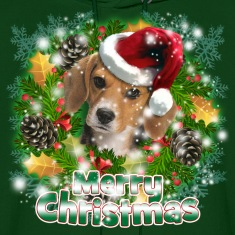 Merry Christmas Beagle Hoodies