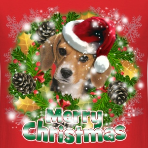Merry Christmas Beagle T-Shirts - Men's T-Shirt