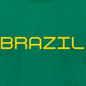 Brazil 5 Star sleeved t-shirt - Men's T-Shirt by American Apparel
