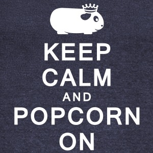 'Keep Calm & Popcorn On' Ladies Boat Neck Sweater - Women's Wideneck Sweatshirt