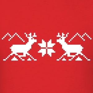 Traditional Xmas Reindeer - Men's T-Shirt