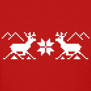 Traditional Xmas Reindeer - Women's T-Shirt