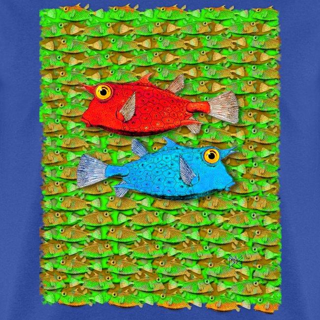 red fish, blue fish, many fish