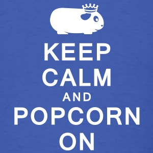 'Keep Calm & Popcorn On' Men's/Unisex T-Shirt - Men's T-Shirt