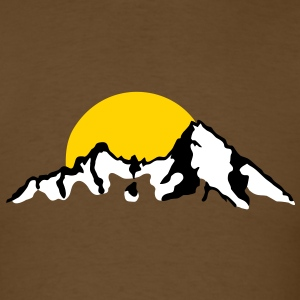 Mountain with Sunset / sunrise T-Shirts - Men's T-Shirt