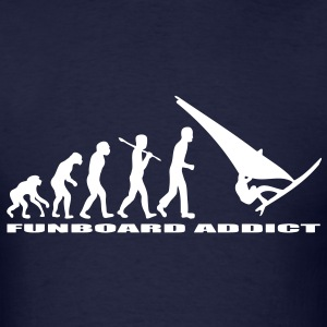 T-shirt evolution of man funboard addict - Men's T-Shirt