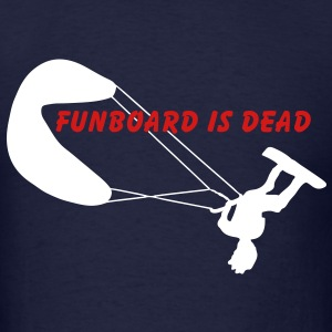 T-shirt kiteboarding funboard id dead - Men's T-Shirt