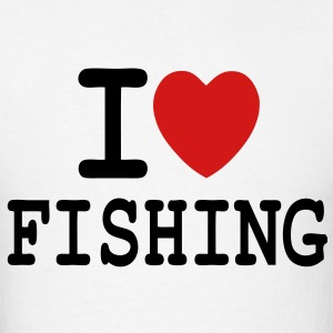 T-shirt i love fishing to fisherman - Men's T-Shirt