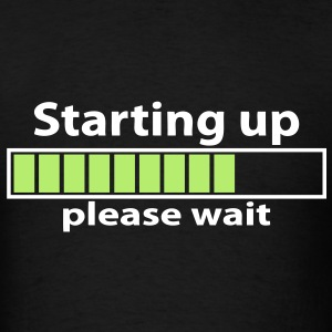 T-shirt geek starting up please wait - Men's T-Shirt