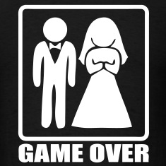 T-shirt marriage game over