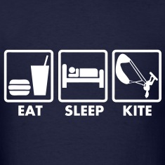 T_shirt kiteboarding eat sleep kite