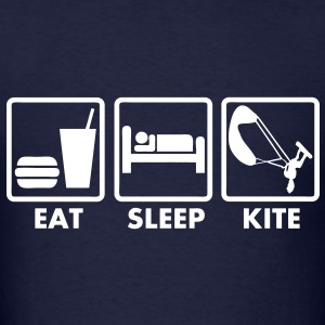 T_shirt kiteboarding eat sleep kite - Men's T-Shirt