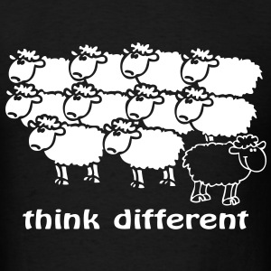 Think different the happy sheep - Men's T-Shirt