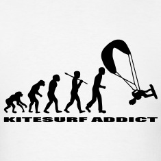 T-shirt evolution of man kitesurf addict