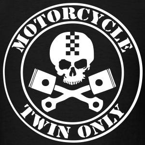 t-shirt motorcycle twin only - Men's T-Shirt