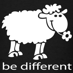 t-shirt be different the happy sheep - Men's T-Shirt