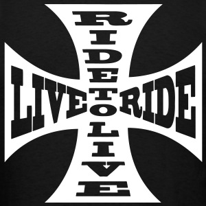T-shirt motorcycle biker ride to live live to ride - Men's T-Shirt