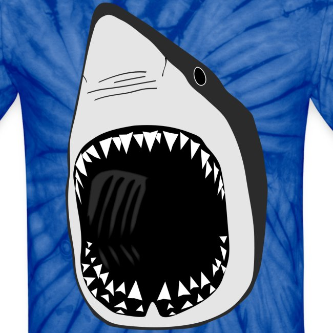 animal t-shirt white shark jaws fish fishing diver scuba diving sharks