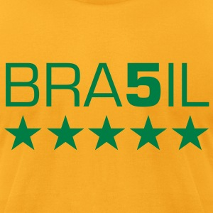 BRA5IL 5 Star t-shirt - Men's T-Shirt by American Apparel