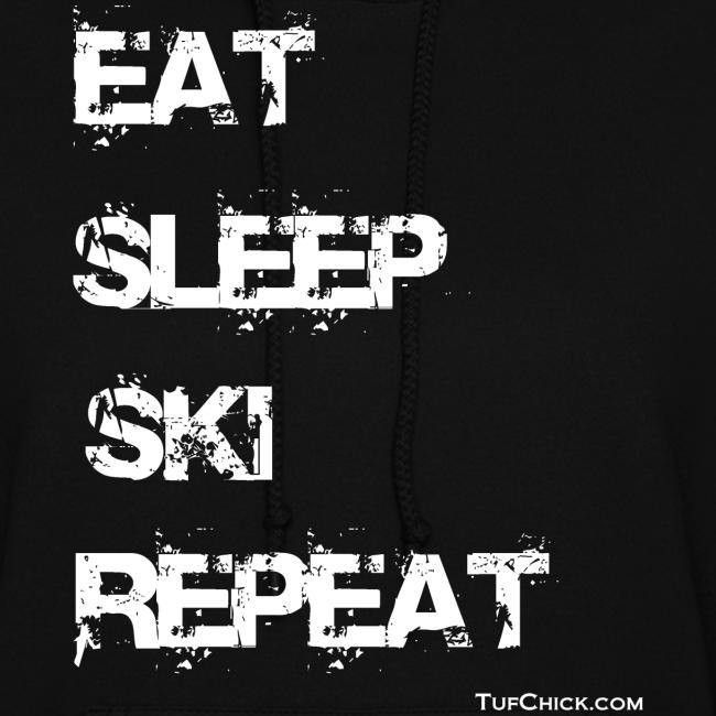 Eat Sleep Ski Repeat Women's Hoodie - wb - TC - Front