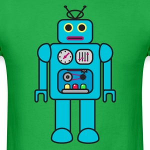 Blue Retro Robot T-Shirts - Men's T-Shirt