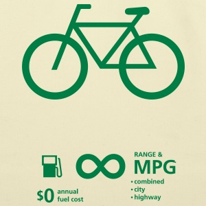 Bicycle Fuel Economy - Eco-Friendly Cotton Tote