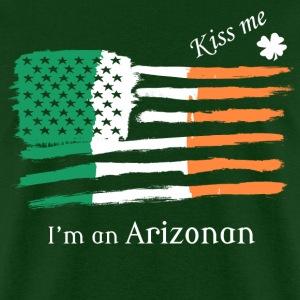 Kiss Me Im an Arizonan Irish American Flag T-shirt