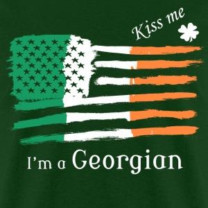 Kiss Me Im a Georgian Irish American Flag T-shirt