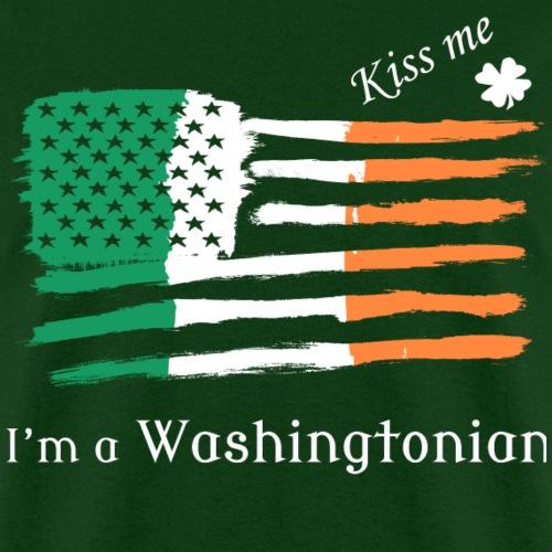 Kiss Me Im a Washingtonian Irish American Flag Tee