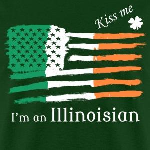 Kiss Me Im an Illinoisian Irish American Flag Tee