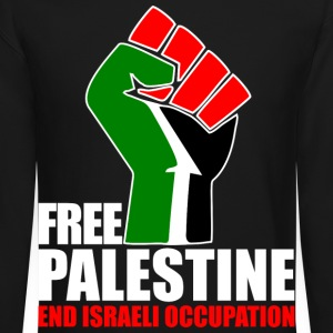 Free Palestine end Israeli Occupation Long Sleeve Shirts - Crewneck Sweatshirt