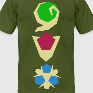 LoZ OoT Stones (men's) - Men's T-Shirt by American Apparel
