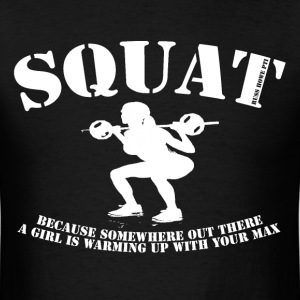 Squat (white) T-Shirts - Men's T-Shirt