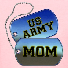 Army Mom Dog Tags Women's T-Shirts