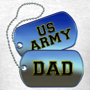 Army Dad Dog Tags T-Shirts - Men's T-Shirt