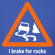 Design ~ YellowIbis.com 'Geology Symbols' Men's / Unisex Standard T-Shirt: I brake for rocks (Colour choice)