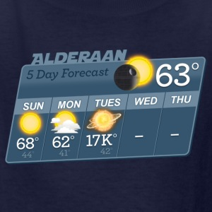 STAR WARS ALDERAAN 5 DAY WEATHER FORECAST Kids' Sh - Kids' T-Shirt