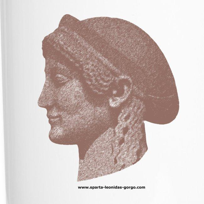 Spartan women travel mug