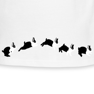 Rabbit jumps T-Shirts - Men's Ringer T-Shirt