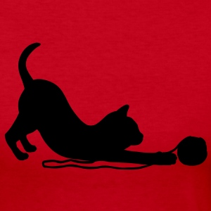 Kitten playing with a ball of wool.  Long Sleeve Shirts - Women's Long Sleeve Jersey T-Shirt