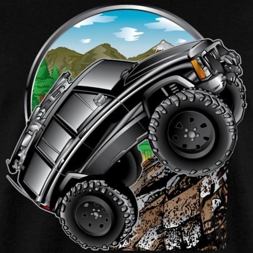 XJ Cartoon Jeep Blk