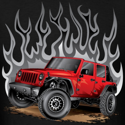 Wrangler Jeep Red Hot