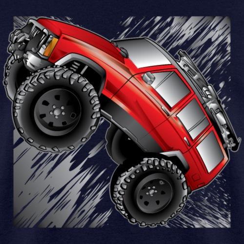 XJ Jeep Cartoon Red