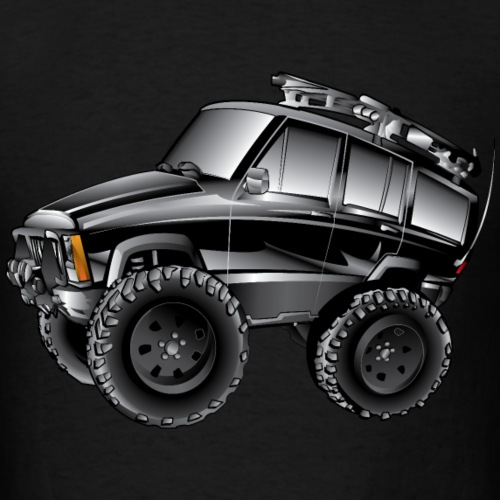 XJ Jeep Cartoon Black