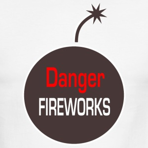 danger fireworks T-Shirts - Men's Ringer T-Shirt