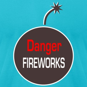 danger fireworks T-Shirts - Men's T-Shirt by American Apparel