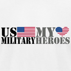 US MILITARY MY HEROES T-Shirts - Men's T-Shirt by American Apparel