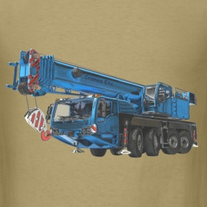 Mobile Crane 4-axle - Blue T-Shirts - Men's T-Shirt