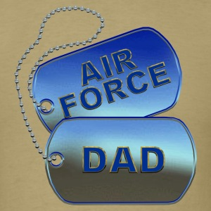 Air Force Dad Dog Tags - Men's T-Shirt