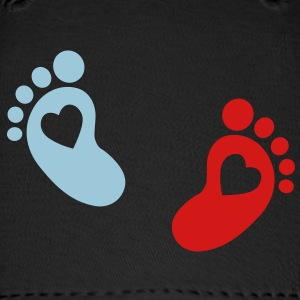 baby - footprint - heart Caps - Baseball Cap